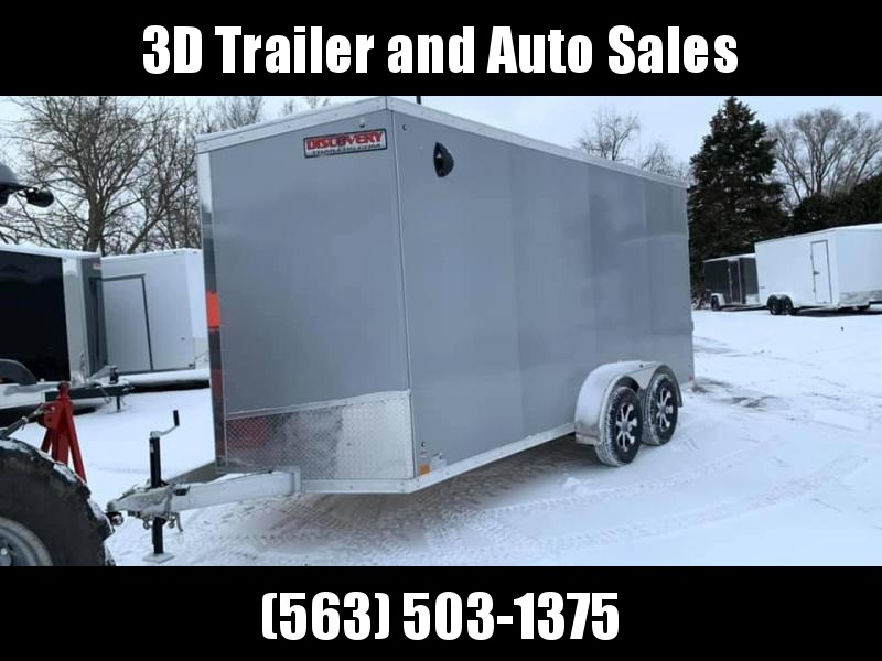 2020 Discovery 7' x 16' x 7'  Aluminum UTV PKG Enclosed Trailer w/ Ramp