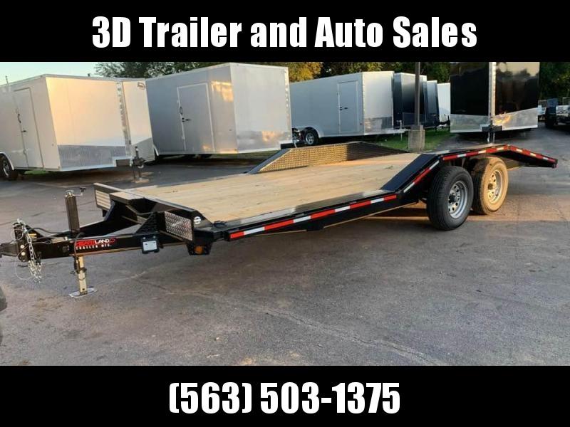 "2019 Heartland 102"" x 20' 10k Flatbed Full Width w/ Drive Over Fenders Car / Equipment Trailer"
