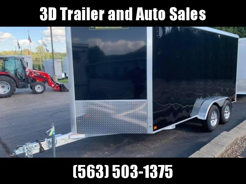 "2020 Aluma AE 7' x14' TAR 9"" Extra Tall UTV PGK All Aluminum Enclosed Cargo Trailer"
