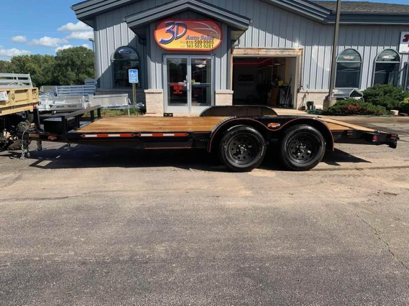 2020 Chase Trailers 16' 7K Loaded Flatbed Car Trailer
