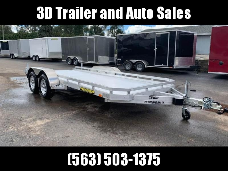 2020 Aluma 78 x 16' Tandem Axle Utility w/ Slide Out Ramps Utility Trailer