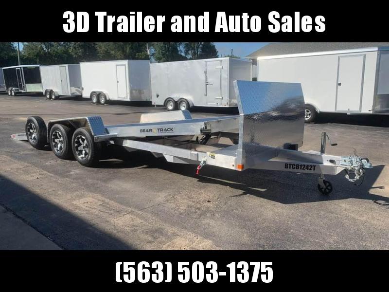 """2020 Bear Track 82"""" x 20' 7k All Aluminum Tiltbed Car / Racing Trailer"""