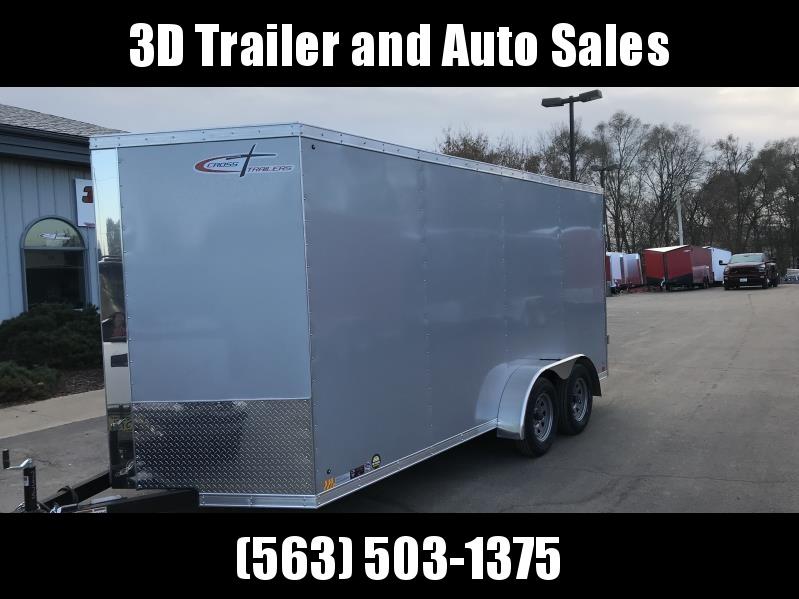 "2019 Cross 7' x 16' x 6'6"" Extra Tall Enclosed Trailer w/ Barn Door"