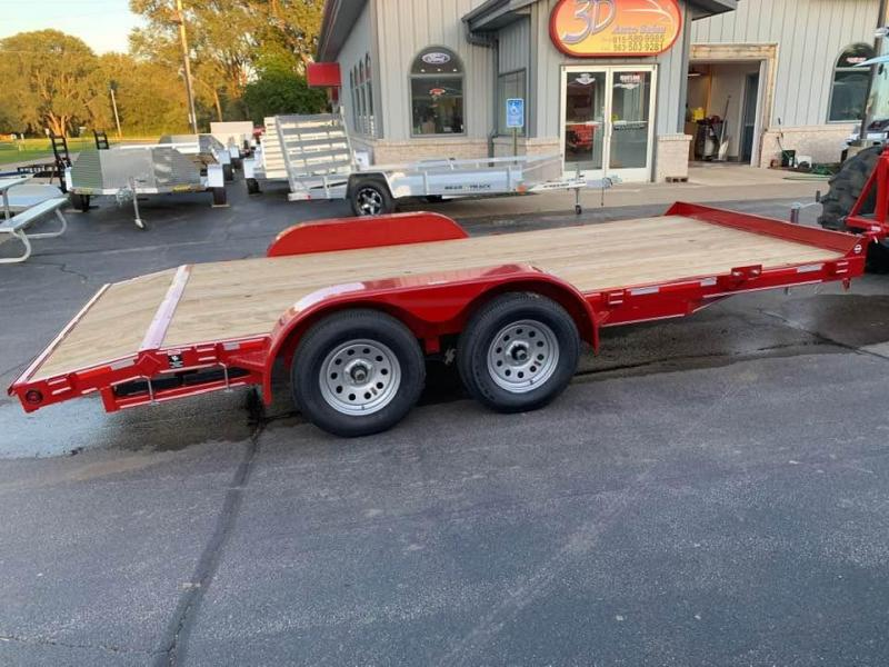 2019 Heartland 16' 7K GVWR Flat Bed Car Trailer
