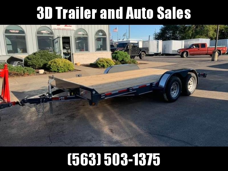 2019 Heartland 16' 7K GVWR Flat Bed Car Trailer