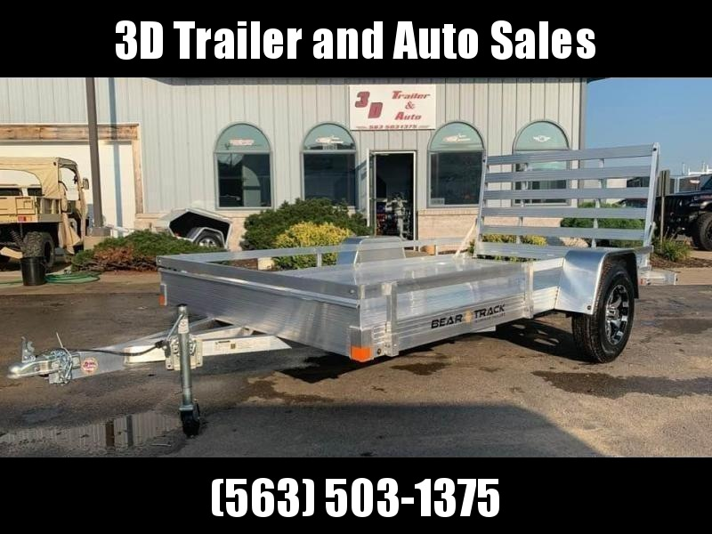 "2020 Bear Track 76"" X 12' All Aluminum Utility Trailer w/ Straight Gate"