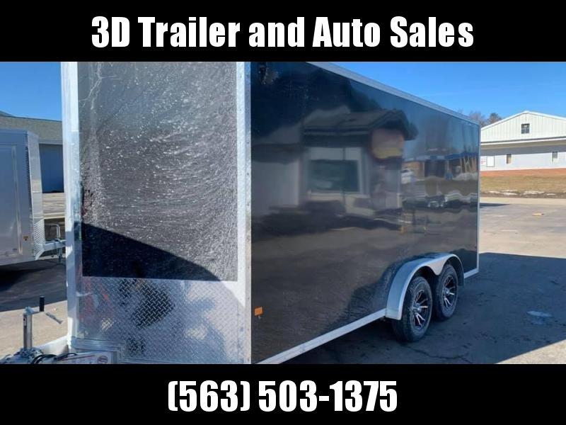 "2020 Cargo Pro 7.5' x 16' x 6'9"" Stealth Extra Tall Aluminum Enclosed Cargo Trailer w/ Ramp Door"
