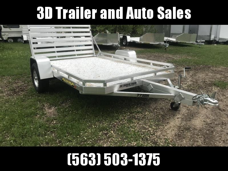 "2020 Aluma 77"" x 10' H Straight Aluminum Open Utility Trailer"