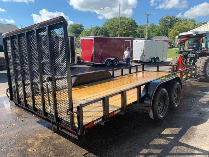 2019 Chase Trailers 7' x 18' w/ 4' Assisted Gate Open Utility Trailer
