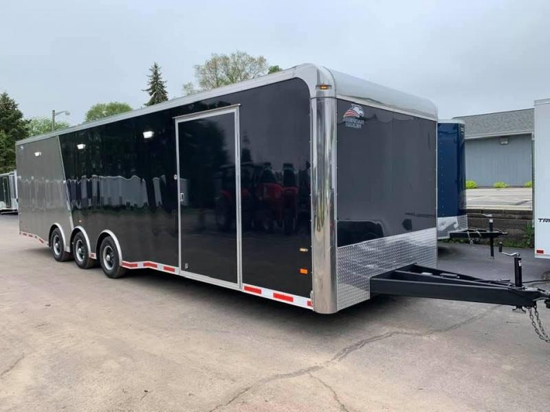 2020 American Hauler 8.5' x 32' x 7' 15K GVWR SILVER HAWK XT LOADED Enclosed Race Car Trailer MUST SEE!