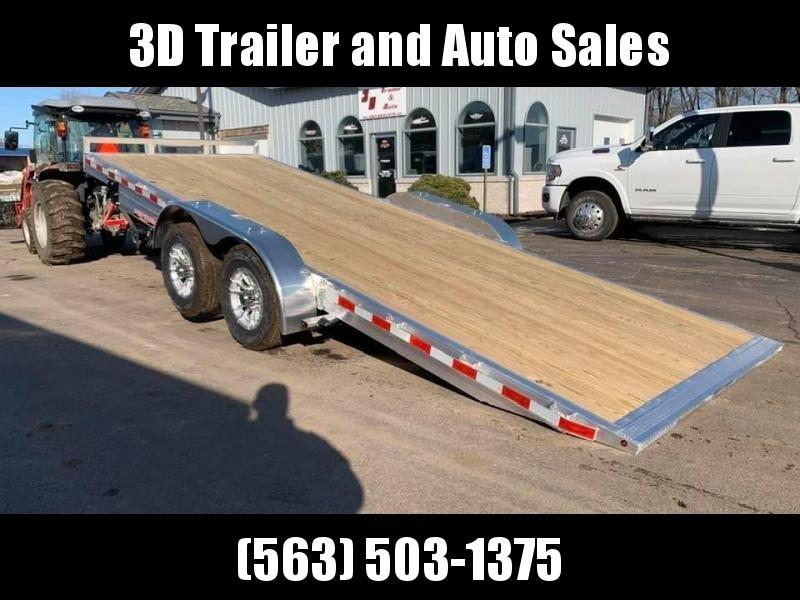 "2020 H & H 82"" X 20' Aluminum 10k Speedloader EXA Power Tiltbed Car / Racing Trailer"