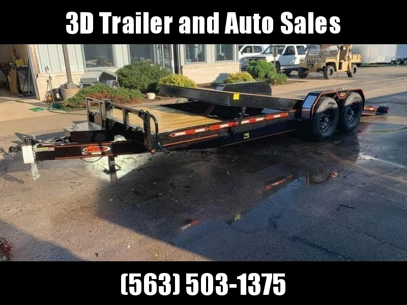 2020 Chase Trailers 22' 14K Split Deck Tilt Bed Equipment Trailer
