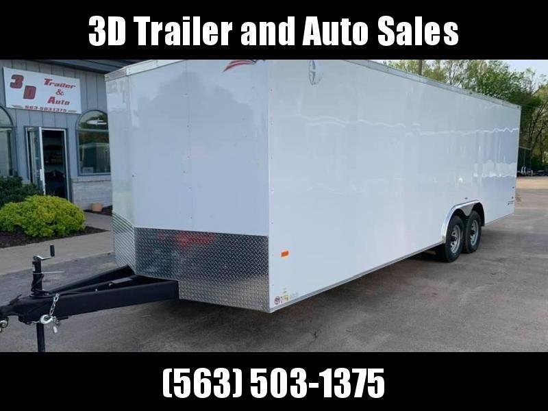 """2020 AMERICAN HAULER 8.5' x 24' x 6'6"""" NIGHT HAWK 10K GVWR Race Car Enclosed Trailer"""