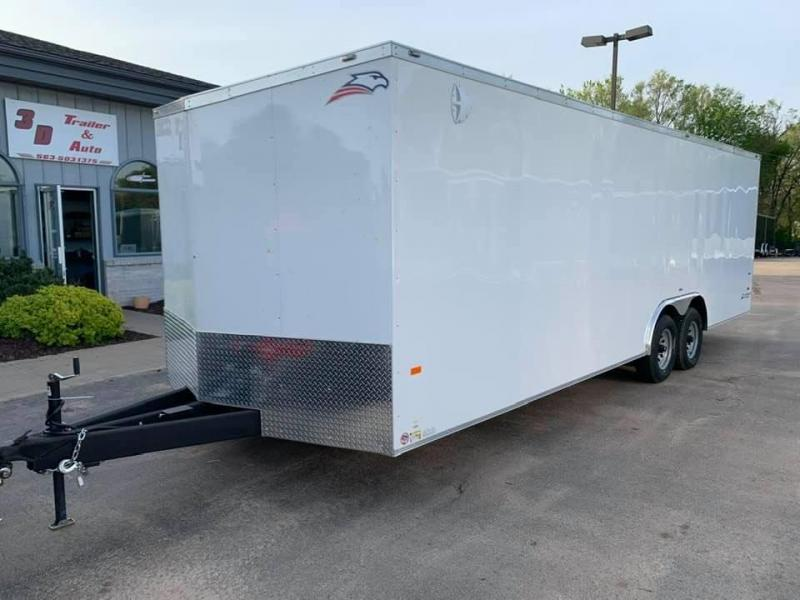 "2020 AMERICAN HAULER 8.5' x 24' x 6'6"" NIGHT HAWK 10K GVWR Race Car Enclosed Trailer"