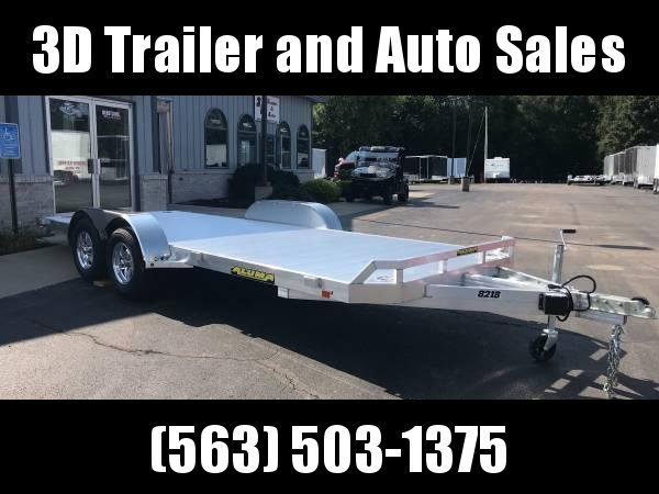 "2020 Aluma 82"" x 18' 7K GVWR All Aluminum Car / Racing Trailer w/ Slideout Ramps"