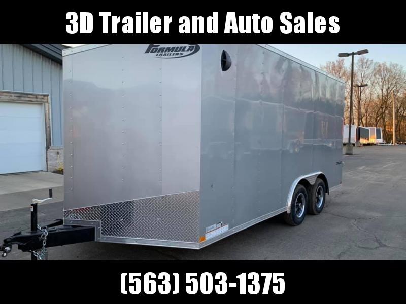 Formula Trailers 8.5 X 16 X 7 Enclosed Race/ Car Trailer