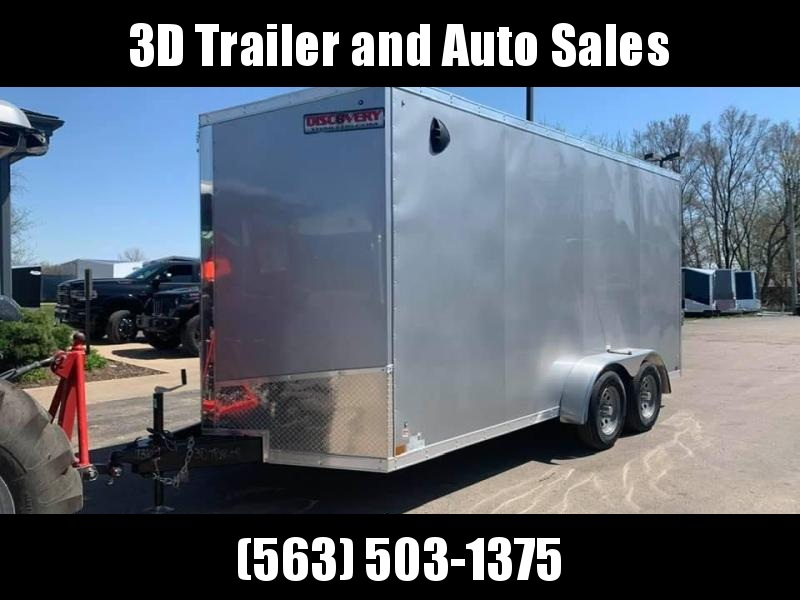 2021 Discovery 7' x 16' x 7' Rover SE UTV PKG Enclosed Cargo Trailer w/ Ramp