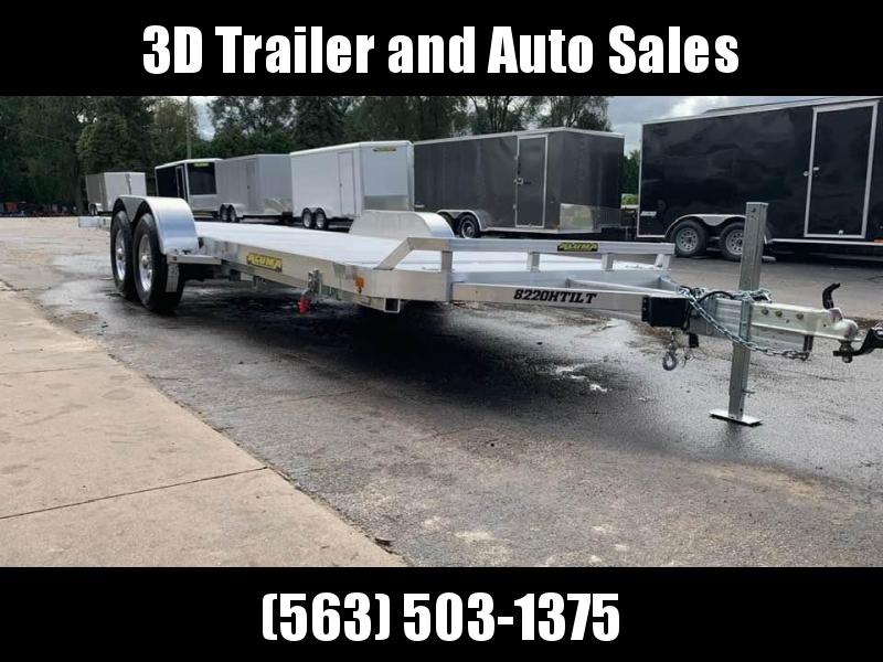 "2020 Aluma 82"" x 20' Heavy 10k Aluminum Tilt Bed Car / Racing Trailer"