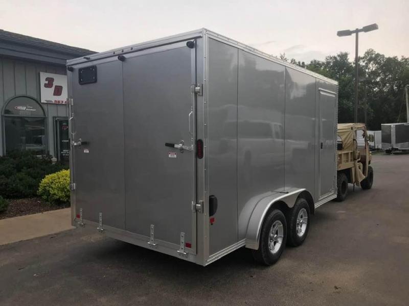 "2019 CargoPro 7.5' x 14' x 6'9"" Stealth Extra Tall Aluminum Cargo Enclosed Trailer w/ Ramp Door"