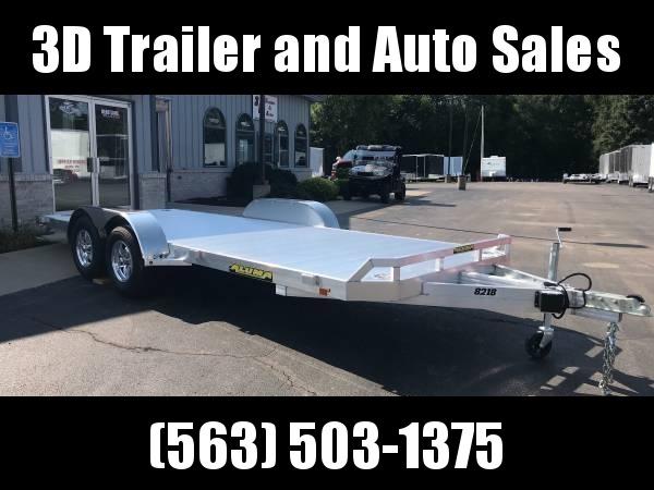 "2020 Aluma 82"" x 16' 7K GVWR All Aluminum Car / Racing Trailer w/ Slideout Ramps"