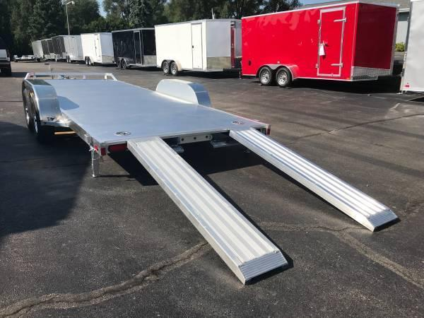 "2020 Aluma 82"" x 16' 7K GVWR All Aluminum Car / Racing Trailer w/ Slideout Ramps"
