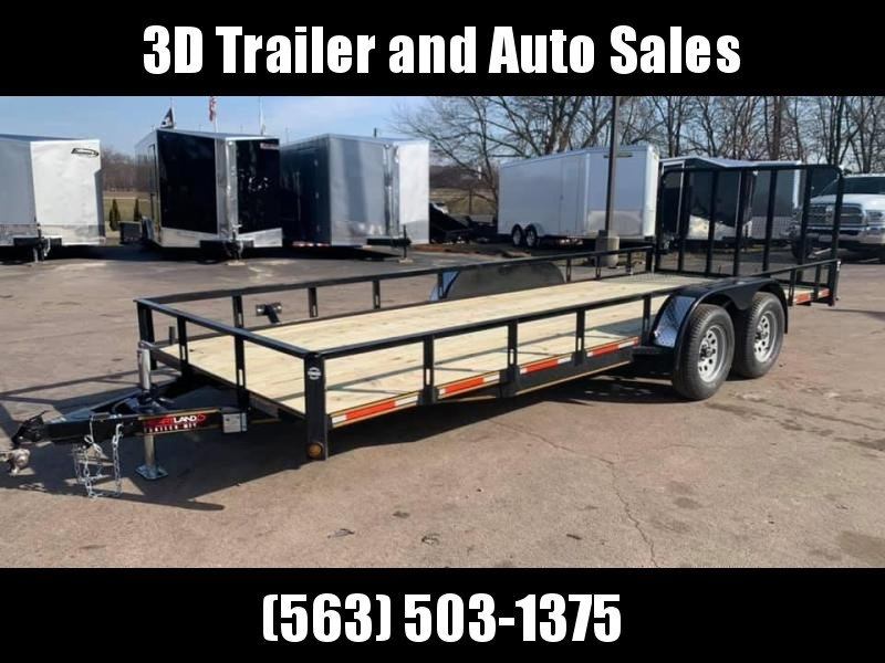 2020 Heartland 7' x 20' w/ 4' HD Spring Assisted Gate