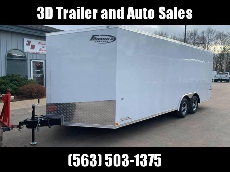 2020 Formula Trailers 8.5 x 20 x 6'6 7k Conquest Car Trailer Enclosed Cargo Trailer