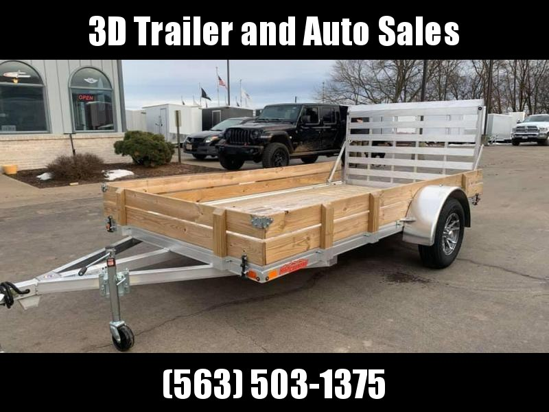 "2020 Alcom High Country 80"" x 12' Aluminum w/ Wood Sides Utility Trailer"