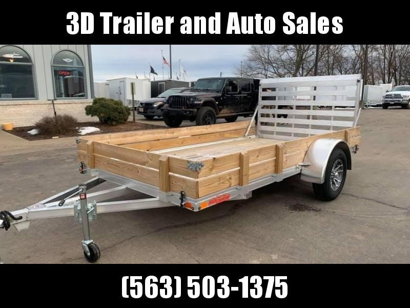 "2020 Alcom High Country 80"" x 12' Aluminum w/ Wood Sides Utility Trailer"