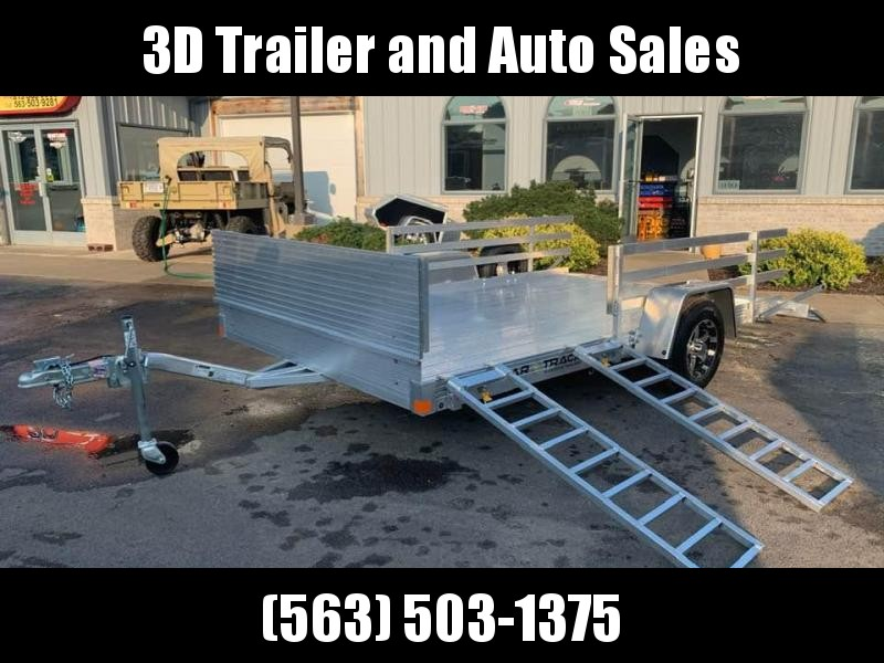 "2020 Bear Track 82"" x 12' All Aluminum Utility Trailer w/ 2' sides / Side Load"