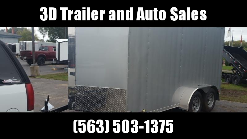 "2019 Cross 7' x 14' x 6'6"" Extra Tall Enclosed Trailer w/ Ramp Door"