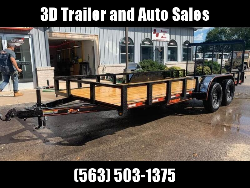 2019 Chase Trailers 7' x 16' w/ 4' Assisted Gate Open Utility Trailer
