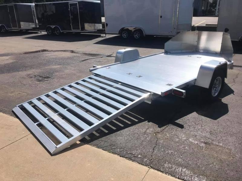 2020 Aluma MC210 Aluminum Open Utility 2 Place Motorcycle Trailer