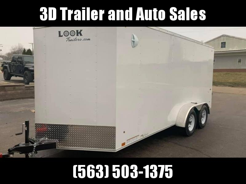 2021 LOOK Trailers 7' X 16' X 6'6'' CARGO DLX Enclosed Cargo Trailer
