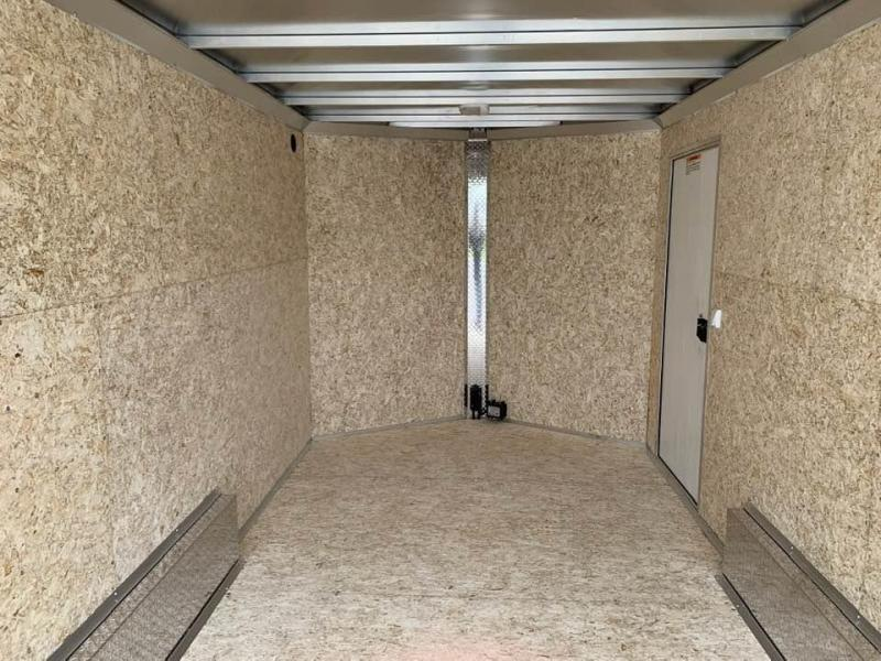 "2019 Cargo Pro 7.5' x 14' x 6'9"" Stealth Extra Tall Aluminum Cargo Enclosed Trailer w/ Ramp Door"