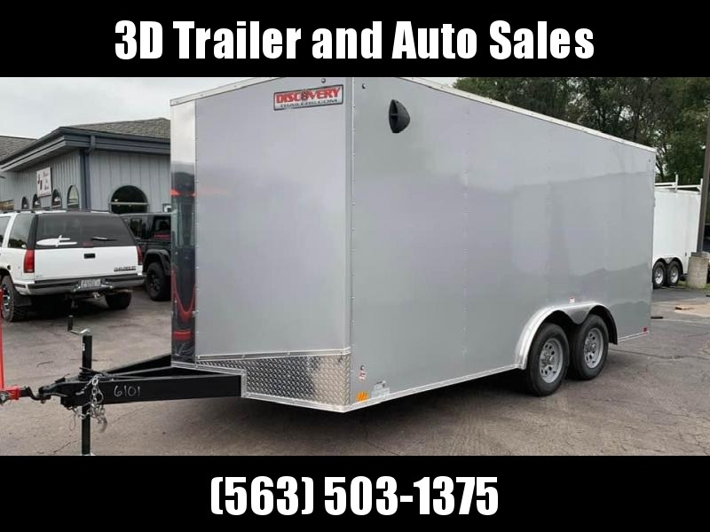 """2020 Discovery 8.5' x 16' x 6'6"""" Challenger ET 7K Enclosed Trailer"""
