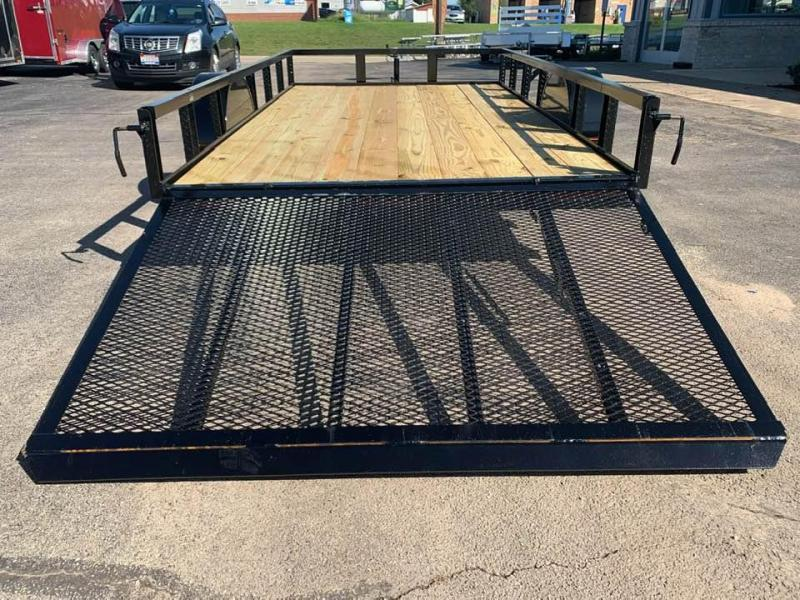 2020 Chase Trailers 6.5' x 12' Open Utility Trailer w/ 4' Assisted Gate