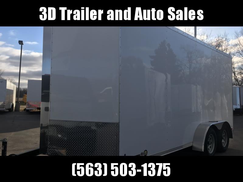 2019 Cross 7' x 16' x 7' Extra Tall Enclosed Trailer w/ Ramp Door