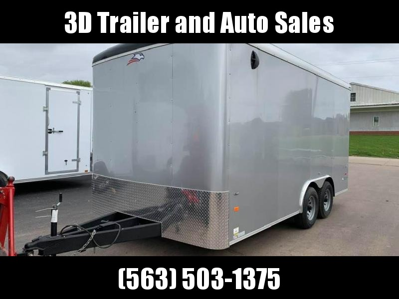 2020 AMERICAN HAULER 8.5' x 16' x 7' FALCON XC 10K GVWR Enclosed Trailer