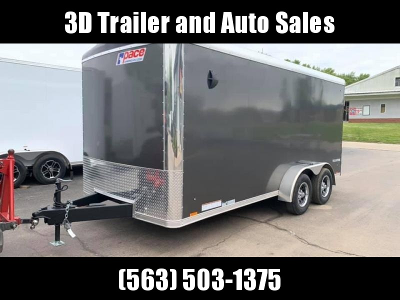 """2021 Pace American 7' x 16' x 6'6"""" Cargo Sport Round Top Enclosed Trailer"""