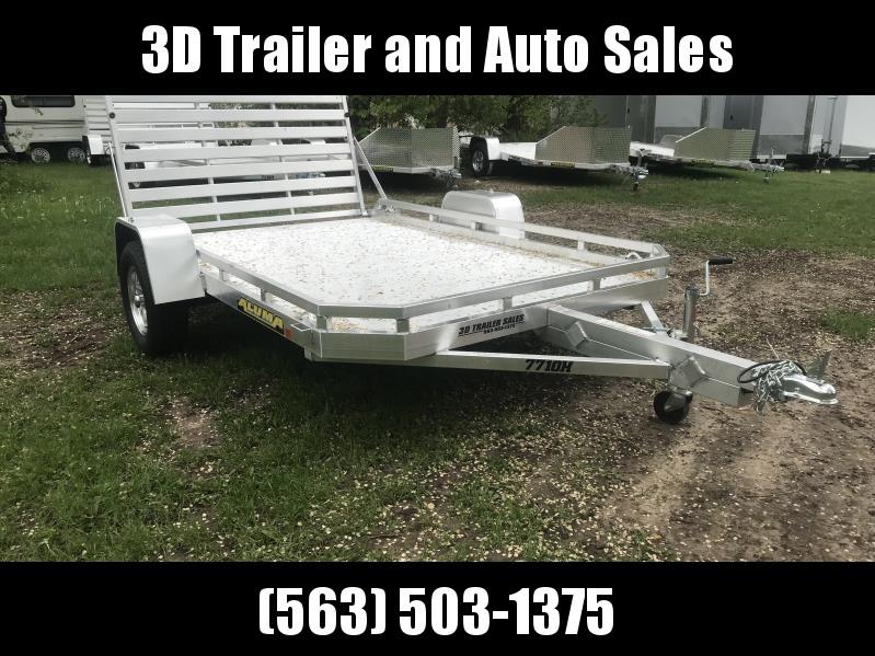 """2020 Aluma 77"""" x 10' H BiFold Gate Aluminum Open Utility Trailer"""
