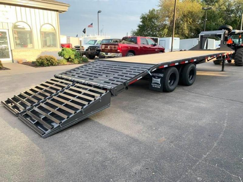 2020 Travalong 27' Gooseneck Deckover 20K GVWR w/ Full Width Monster Ramps