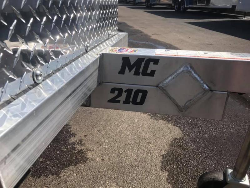 2020 Aluma MC210 Aluminum Open Utility 2 Place Motorcycle Trailer