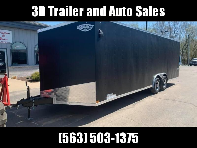 2021 Impact Trailers 8.5' X 24' X 6.5' 10K TREMOR AUTO HAULER Enclosed Car Trailer