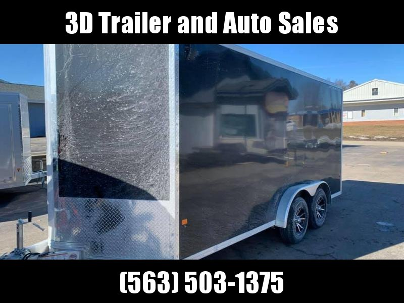 "2020 Cargo Pro 7.5' x 16' x 6'9"" Stealth Extra Tall Aluminum Enclosed Cargo Trailer w/ Ramp Door"