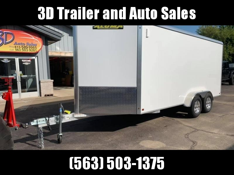"2020 Aluma AE 7' x 16' TAR 9"" Extra Tall UTV PKG Aluminum Enclosed Cargo Trailer"