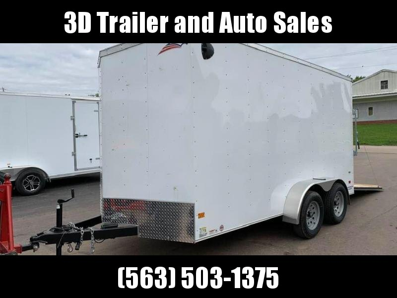 2020 American Hauler 7' x 14' x 7' 7k Arrow Deluxe UTV PACKAGE Enclosed Trailer