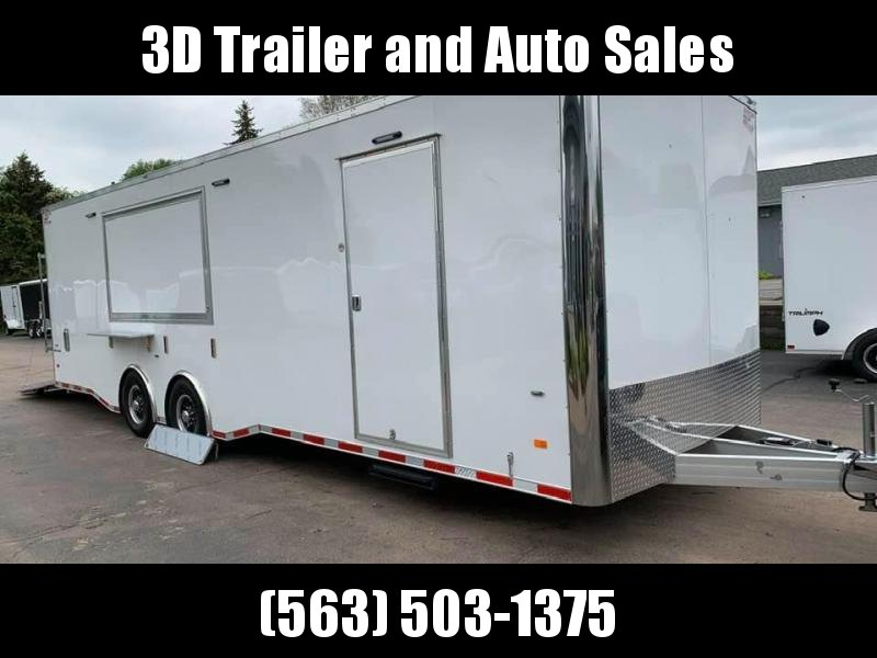 2020 American Hauler 8.5' x 28' x 7.5' 12K GVWR ALUMINUM NIGHT HAWK LOADED Enclosed Race Car / Concession Trailer