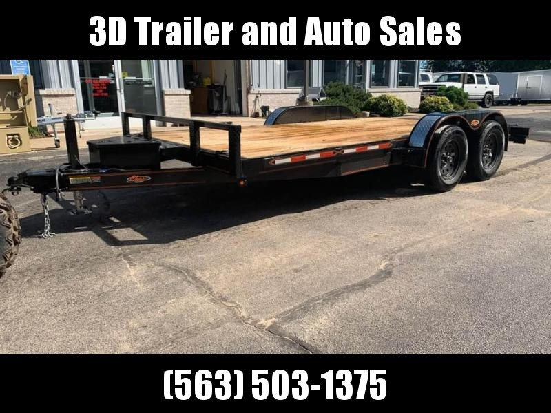 2019 Chase Trailers 16' 7k Flatbed Loaded Car Trailer