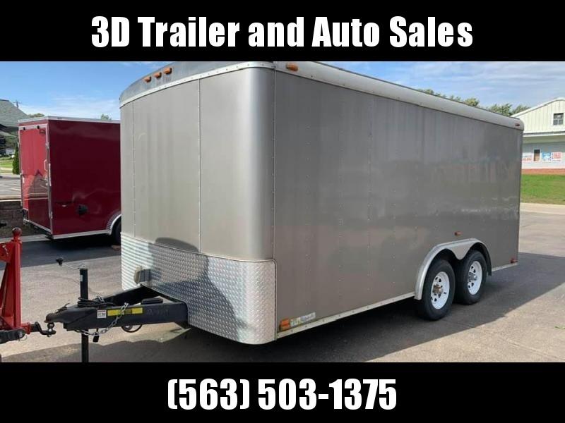 2014 Atlas Specialty Trailers 8 x 16 Round Top Enclosed Trailer w/ Ramp Door Enclosed Cargo Trailer